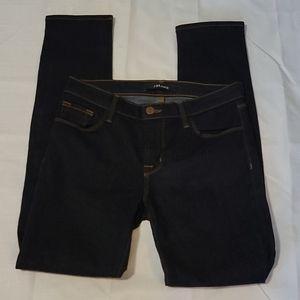 J brand super skinny dark wash mid rise Starless jeans size 27